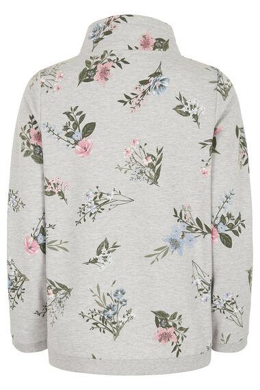 Floral Printed Cowl Sweat
