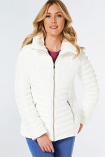 Padded Coat with Fur Collar