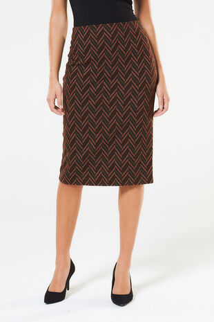 Printed Ponte Pencil Skirt