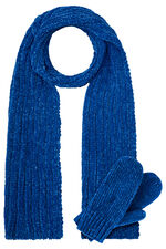 Chenille Scarf and Glove Set