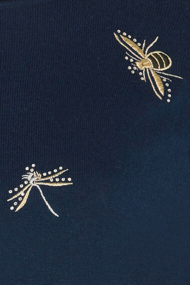 Bee and Dragonfly Embroidered Jumper