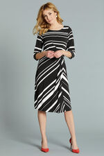 Monochrome Stripe Tunic Dress