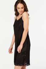 Lace Trim Cami Strap Full Slip Dress