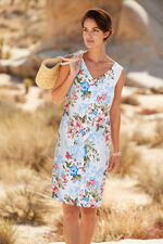 Printed Linen Blend Dress