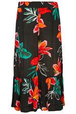 Tropical Crinkle Maxi Skirt