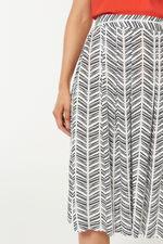 Chevron Printed Flippy Skirt