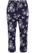 Floral Print Capri Trousers