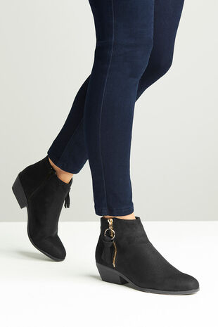 Krush Western Zip Ankle Boot