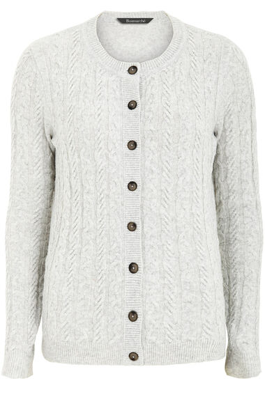 Cable Button Through Cardigan