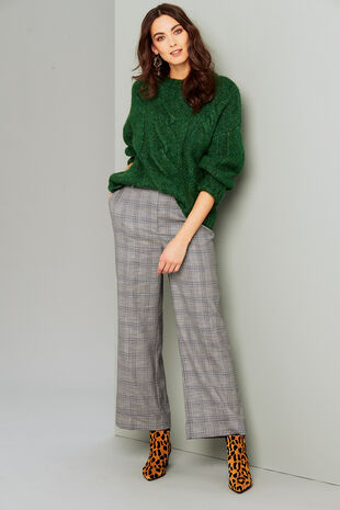 Salvari Check Trouser With Cuff