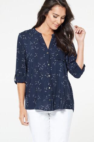 Dandilion Print Woven Shirt