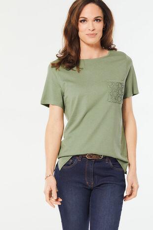 Lace Pocket T-Shirt