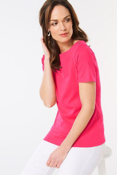 Plain Boat Neck T-Shirt