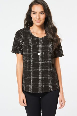 Workwear Grid Check Shell Top