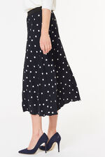 Pleated Spot Skirt