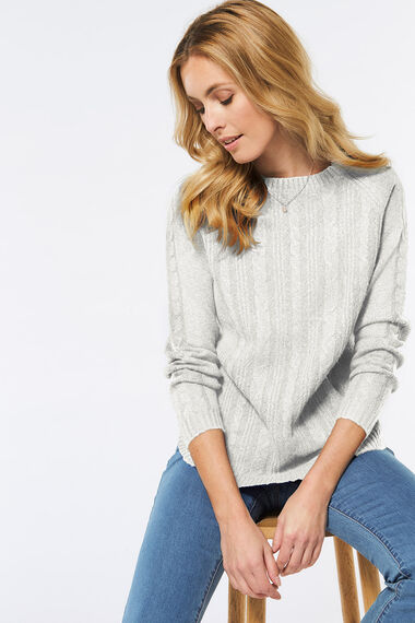 Curved Hem Cable Jumper