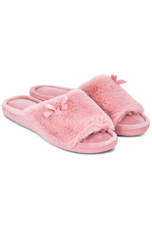 Fluffy Open Toe Slipper