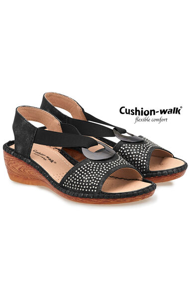 b159ce471c7 Cushion Walk Touch Fasten Sling Back Wedge Sandal