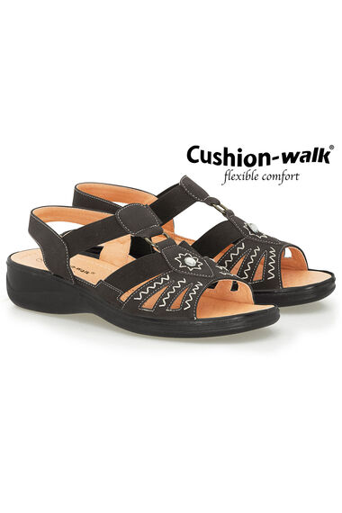 Cushion Walk Elasticated Embroidered Sandal
