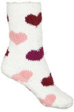 2 Pack Heart Print Cosy Socks