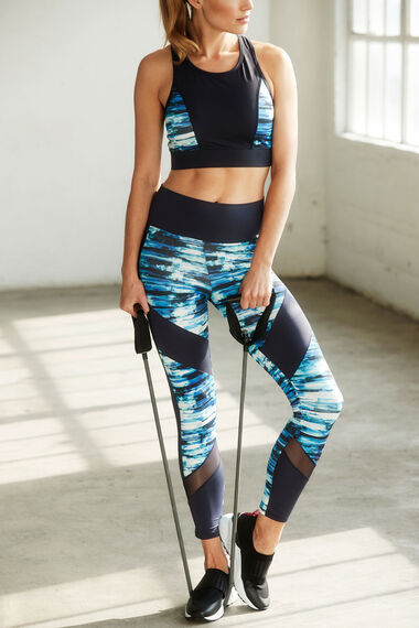 NVC Activewear High-Waist Panelled Sports Legging