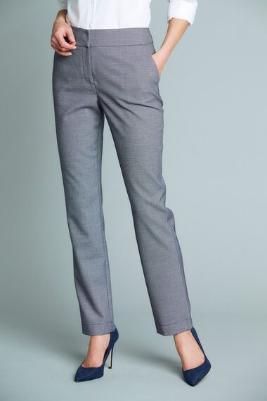 Textured Tapered Trousers