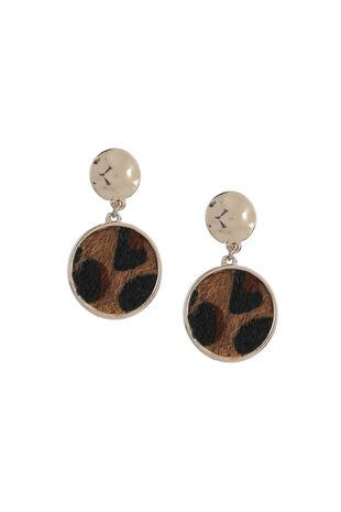 Muse Leopard Drop Earring