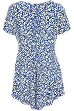 Spot Print Godet Tunic With Necklace