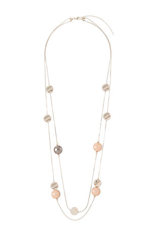 Muse Mixed Bead Long Multi Row Necklace