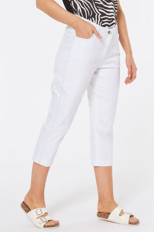Side Stripe Lolly Capri Trouser
