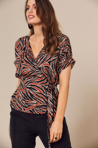 Grace By Eda Animal Print Top