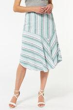 Stripe Linen Blend Skirt