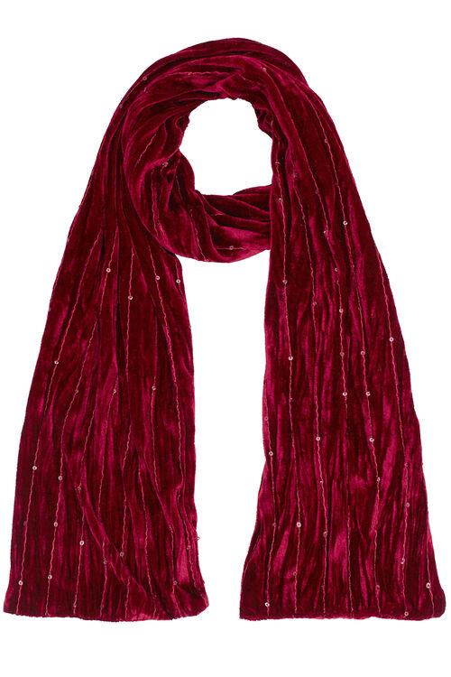 Velvet and Sequin Scarf