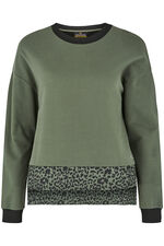 NVC Activewear Animal Print Mesh Panel Sweatshirt