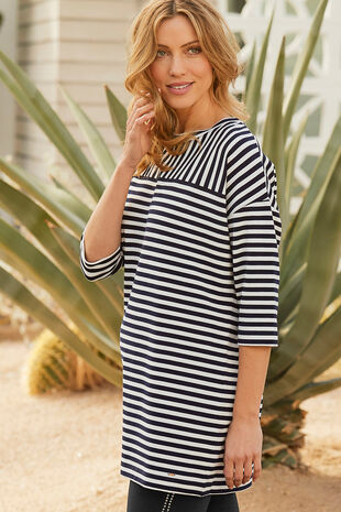 Long Sleeve Stripe Tunic