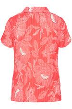 Poppy Print Pleated Short Sleeve Blouse