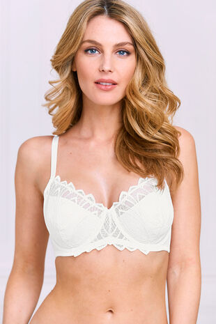 Pointy Leaf Lace Underwired Bra
