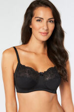 Flower Embroidered Trim Non Wired 2 Pack Bra