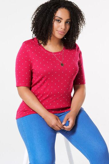 Scoop Print Half Sleeve T-Shirt