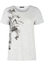 Toucan Placement Sequin Detail T-Shirt