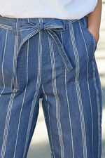Stripe Chambray Harem Trouser