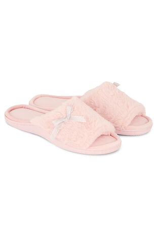 Fluffy Open Toe Slipper