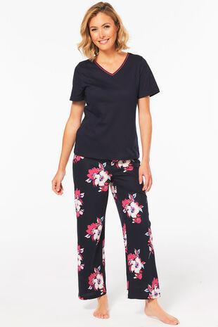 Floral Wide Leg Pyjama Set
