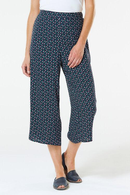 Spot Wide Leg Crop