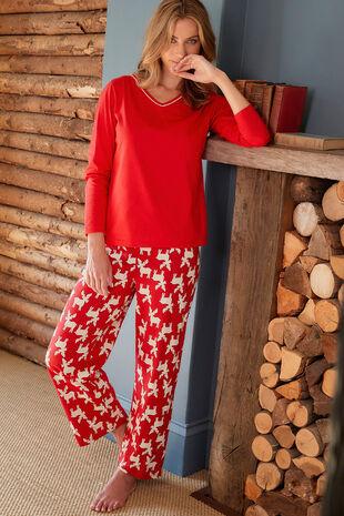 Moose V Neck Gift Pyjama