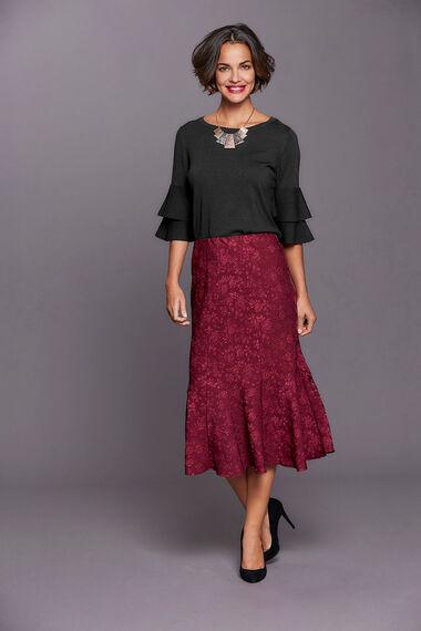 Textured Flippy Skirt