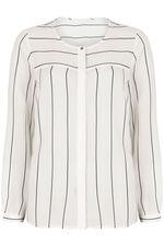 NaraWoman Stripe Pocket Detail Blouse