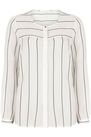 NaraWoman Stripe Pocket Detail Blouse
