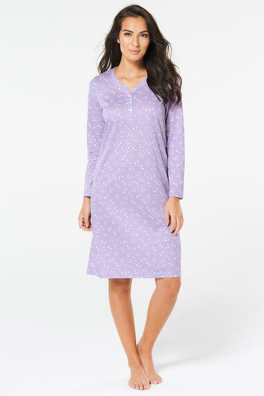 Long Sleeve Cotton Nightdress