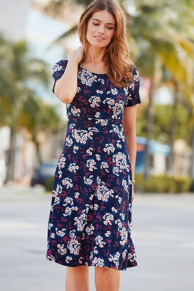 Floral Print Dress and Shrug